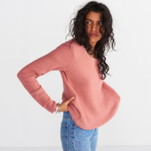 Madewell Blush Colored Crew Neck Sweater Size M